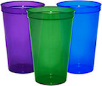 22oz Blank Translucent Stadium Cups